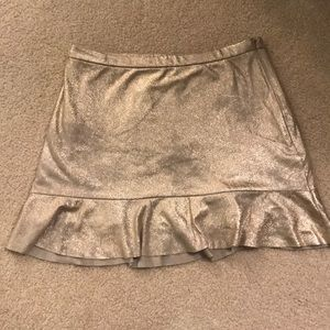 Free People Gold Skirt